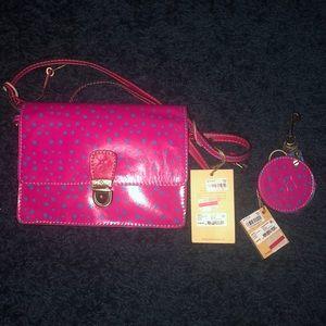 Patricia Nash Lanza crossbody bag and compact mirr